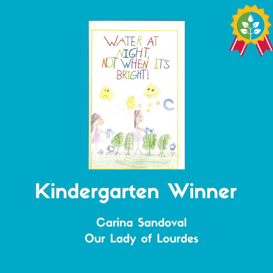 Kindergarten Winner: Carina Sandoval (Our Lady of Lourdes)