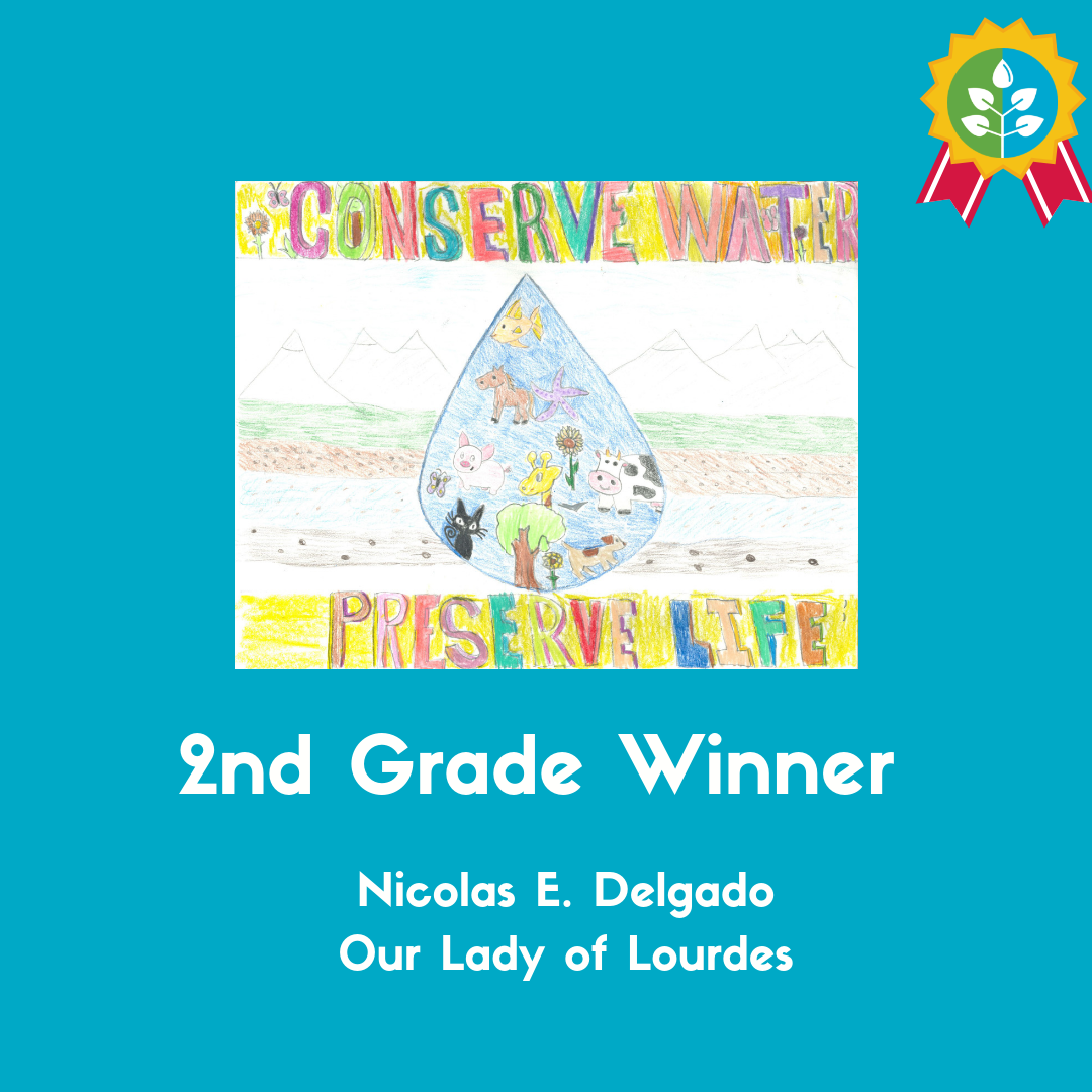 2nd Grade Winner: Nicolas E. Delgado (Our Lady of Lourdes)
